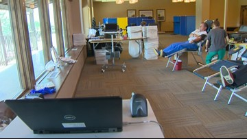 Blood donations dip due to inclement weather