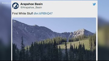 The 'first white stuff' of the season has been spotted at Arapahoe Basin