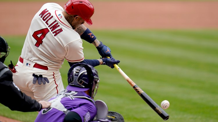Molina 3 RBIs in return from injured list, Cards top Rockies