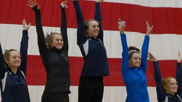 High school girls gymnastics finishes with 5A and 4A individual state championships