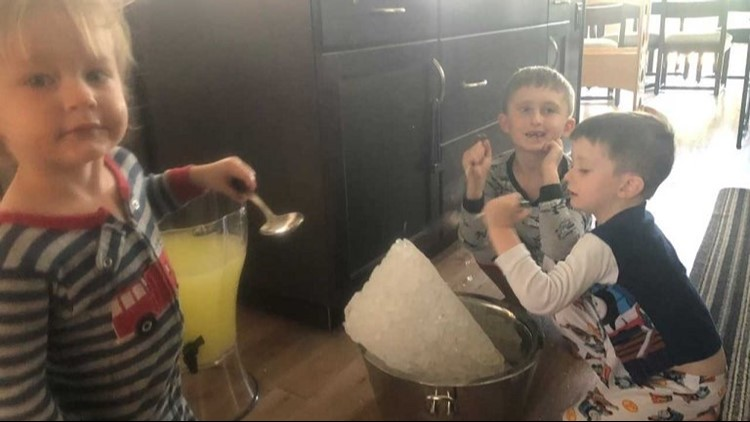 These boys were making lemonade and didn't have a single inkling their stand would be shut down. (Photo: Given to 9NEWS)