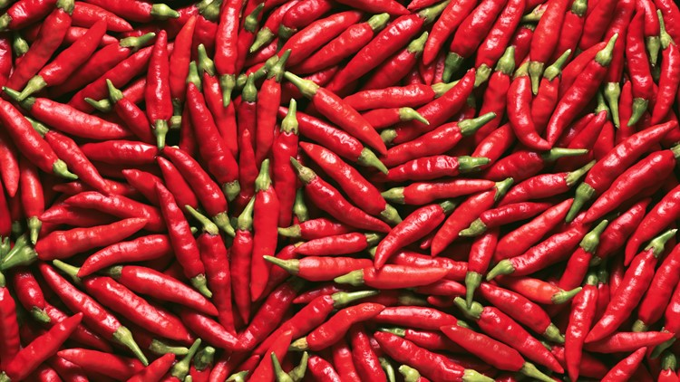 Image for use as background full of red pepper chili chile