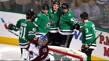 Radulov hat trick, Bishop shutout as Stars beat Avs 4-0