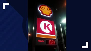 Apparent error gives lucky drivers gas for 2 cents per gallon in Denver