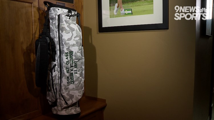 CSU men's golfer using golf bag to honor veteran with admirable mission