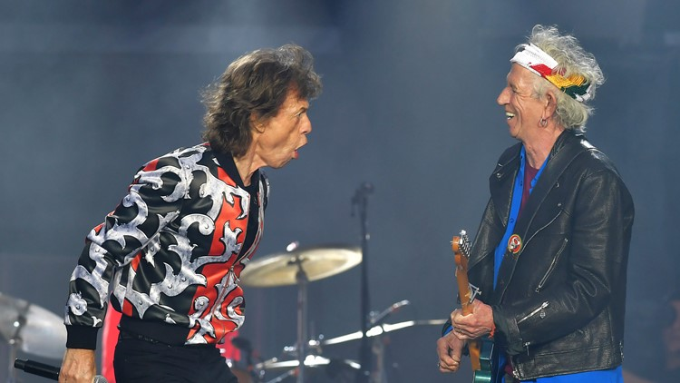 Mick Jagger, left, and Keith Richards, of The Rolling Stones,