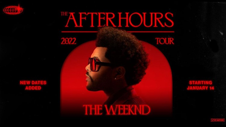 The Weeknd's 104-date tour stops in Denver in 2022