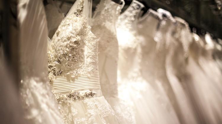 Wedding Dress Rack gowns bridal show weddings dresses