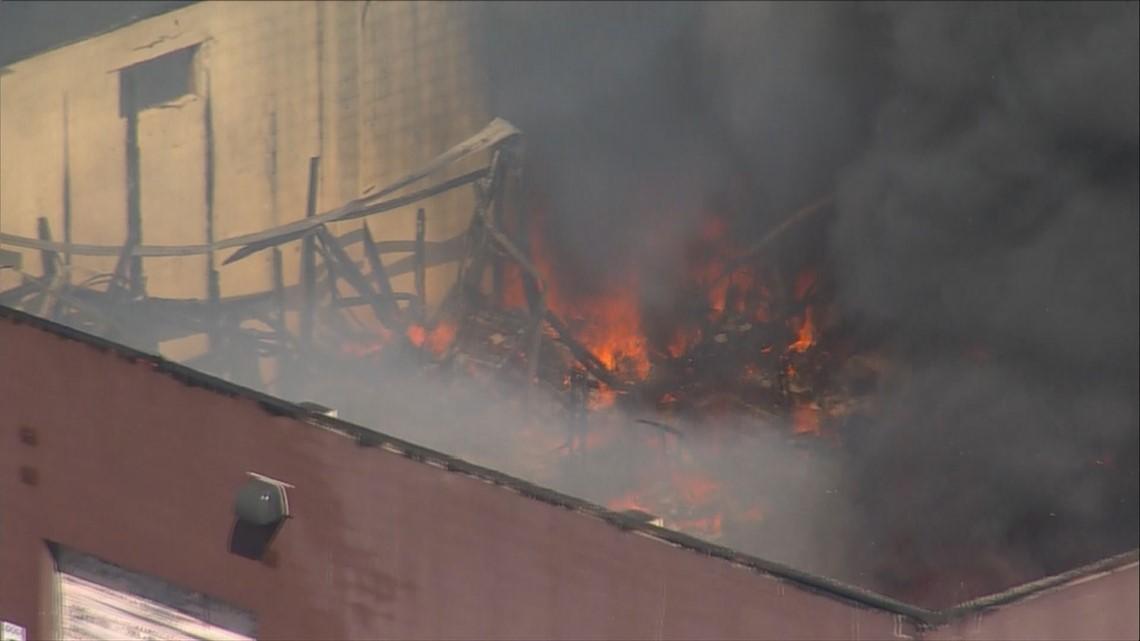 PHOTOS: Fire engulfs Boyer's Coffee in Adams County