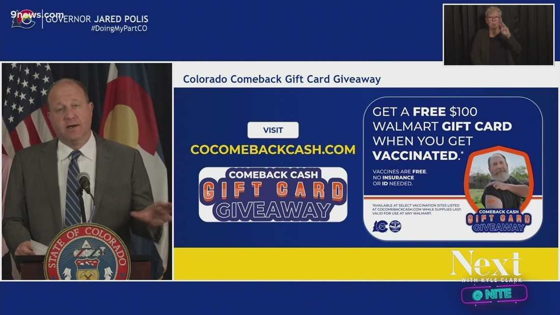 Colorado's already almost halfway through its supply of Walmart gift card vaccine incentives