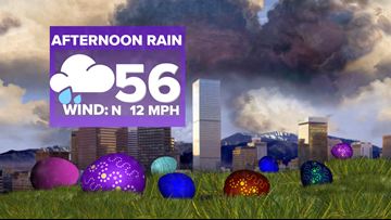 Warm and dry before rain arrives Easter Sunday