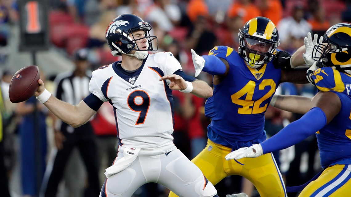 No. 2 QB spot still undecided as Broncos lose to Rams, 10-6, in preseason game