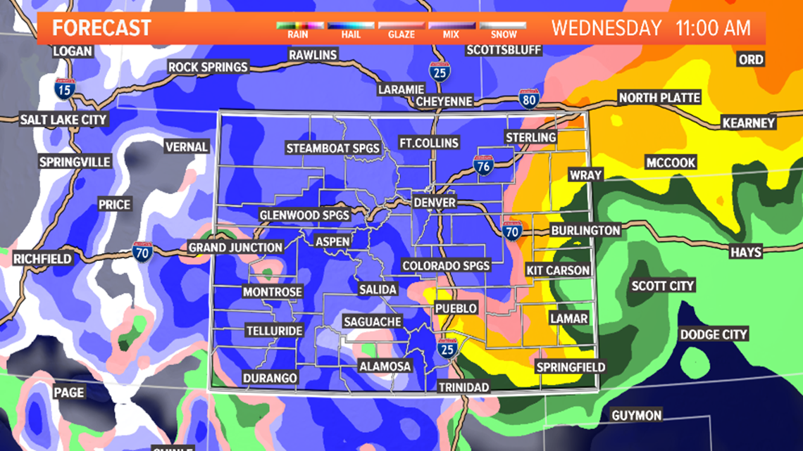 Interstate Travel Weather Map.Colorado Weather Weather 9news Com