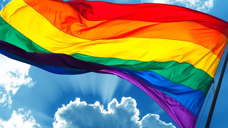 Rainbow Flag symbol of tolerance and acceptance LGBTQ pride flag