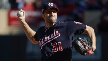 Scherzer takes no-hit bid into 7th, Nationals top Cardinals and lead NLCS 2-0