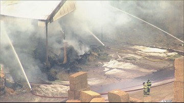 Estimated $240,000 in damages from Weld County hay barn fire