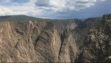 Rock spires in Colorado's Black Canyon National Park