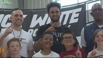 San Antonio Spur Derrick White hosts basketball camp in Parker