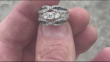 Man helps track down woman's lost wedding ring with metal detector