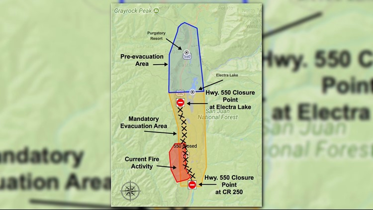 Current La Fire Map.Nearly 400 Firefighters Battling 2 400 Acre Wildfire Near Durango