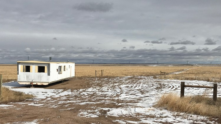 Weld County abandoned trailer