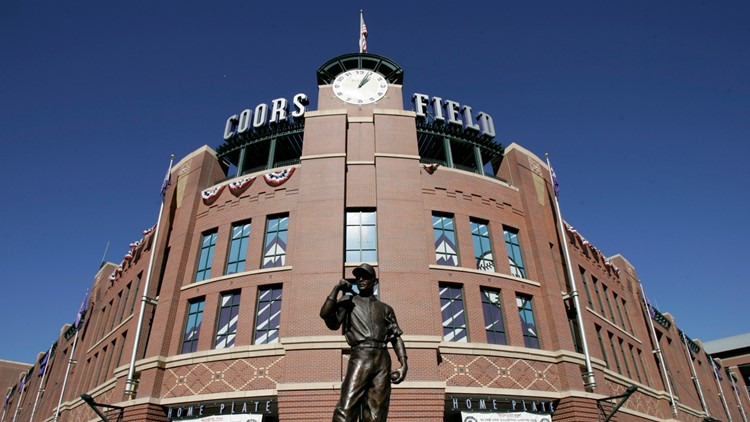 World Series Rockies Downtown Revival Baseball coors field entrance AP