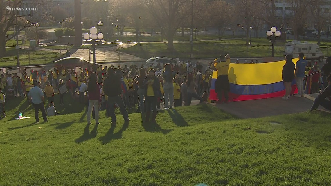 Colombians in Colorado rally for families back home