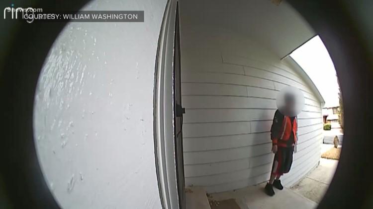 Caught on video peeing