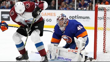 Varlamov shuts out Avalanche, Islanders win 1-0