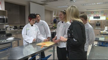 Local students are perfecting a meal to send into space