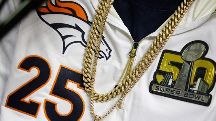 Super Bowl Football Broncos jersey May 6 2019