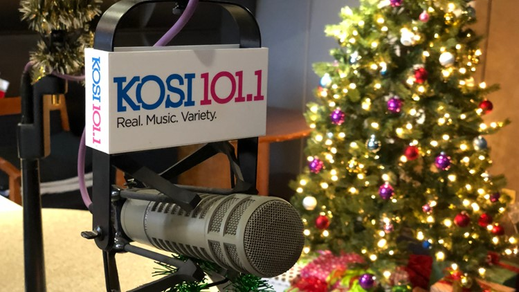 Christmas music returns to KOSI 101 on Friday