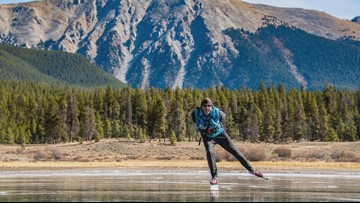 These Coloradans hunt for frozen mountain lakes to ice skate on (and the videos are mesmerizing)