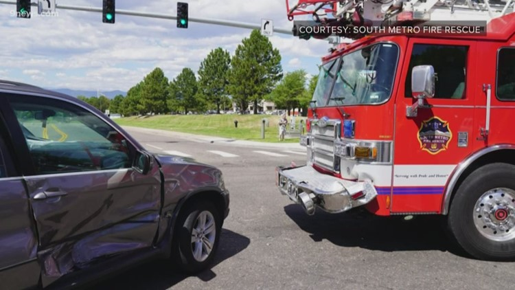 South Metro firetruck involved in crash while responding to another accident