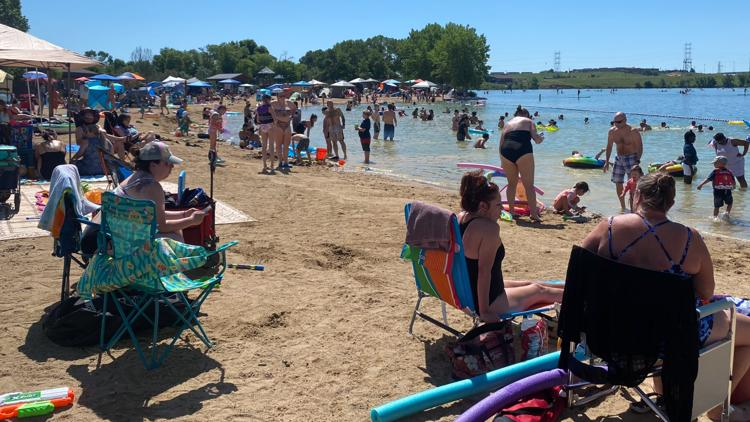 Hundreds fill Bear Creek Lake Park, marking a return to normalcy