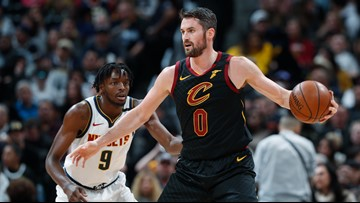 Love has 19 points, 15 rebounds, Cavs beat Nuggets, 111-103