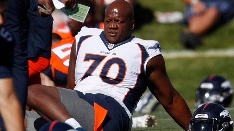 Broncos exploring right tackle market following James' injury