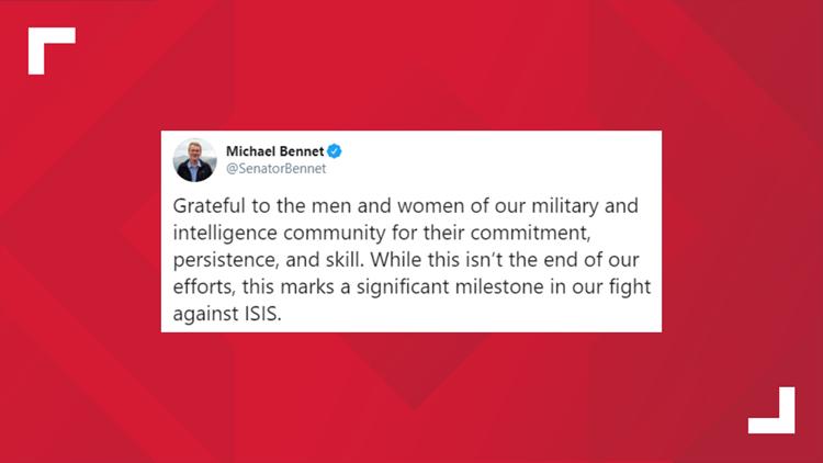 Sen. Michael Bennet tweet