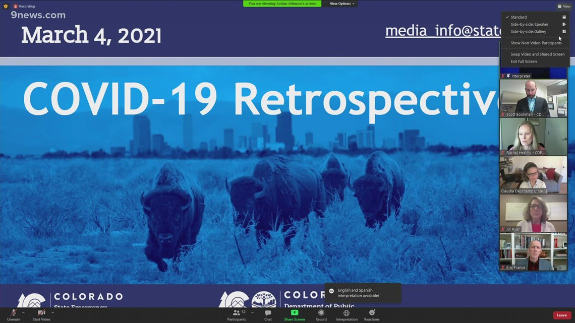 RAW: Colorado health officials give Thursday update on COVID-19