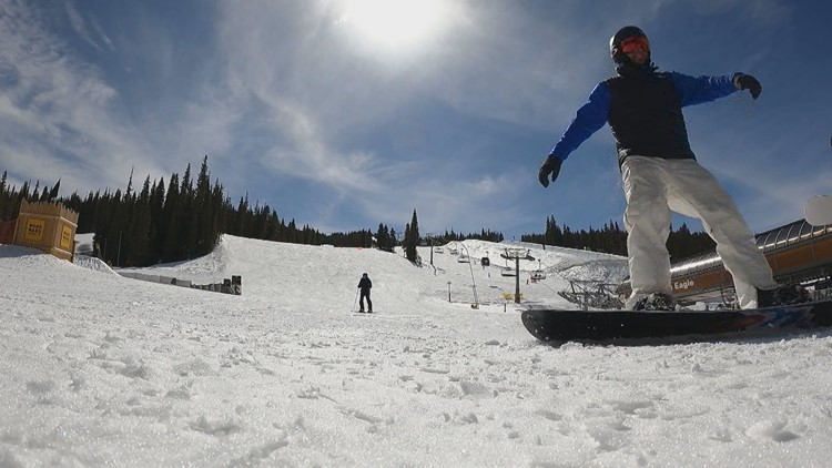 These guys skied and snowboarded the entire frontside of Copper Mountain in a day