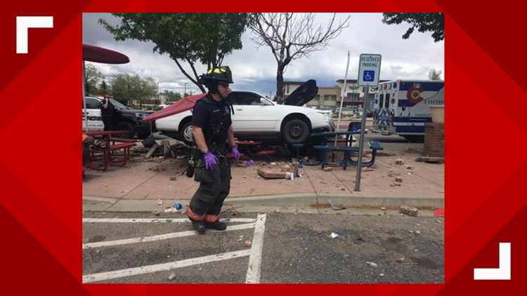 4 injured after car crashes outside Loveland Dairy Queen