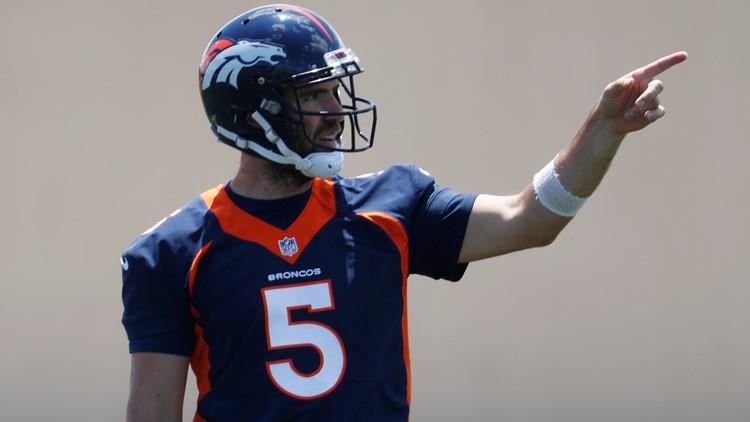 Broncos Football Joe Flacco