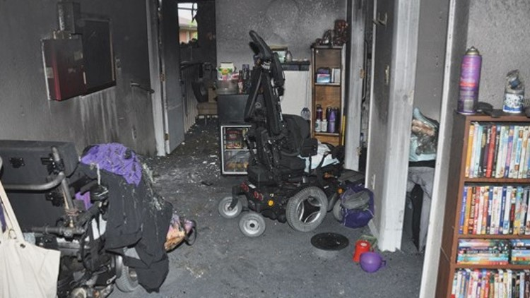 Tanya Bell, a 39-year-old woman who was legally blind and had cerebral palsy and other disabilities, lived in a bedroom built in the home's former garage. She died before firefighters could reach her.