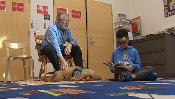 Therapy dogs help kids learn to read at this Colorado library