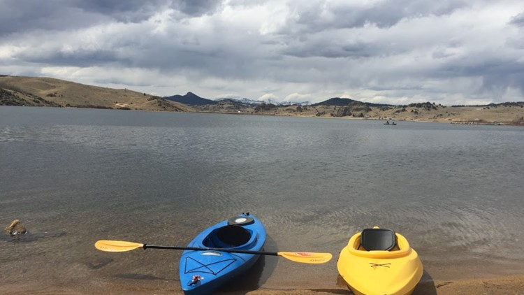 Kayaking at Tarryall Reservoir