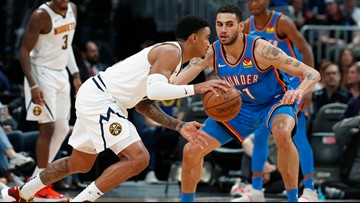 Nuggets win second straight, take down Thunder