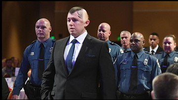 15 months after brain injury, Officer Cem Duzel leads procession of heroes