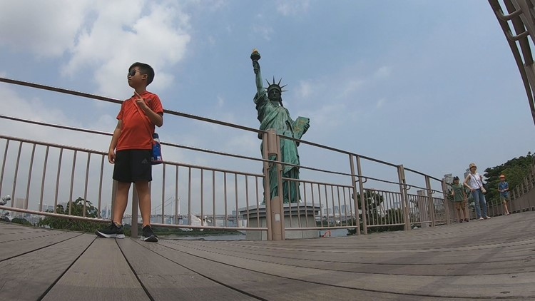 Statue of Liberty near Tokyo has U.S. visitors seeing double at the Olympics