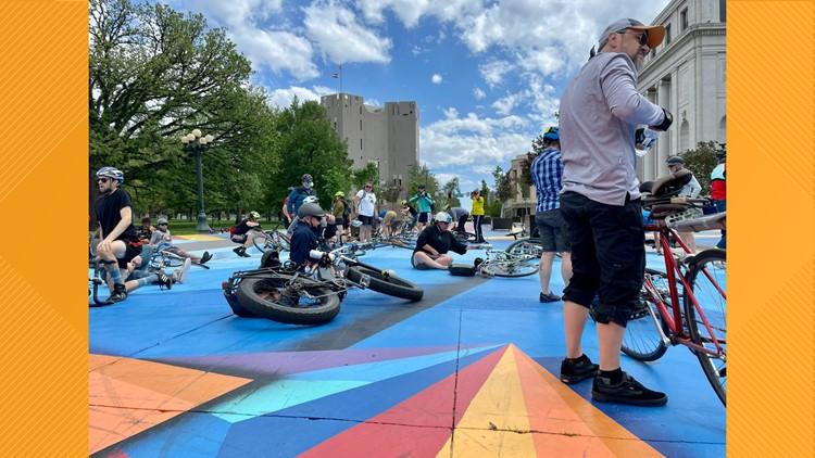 Advocates protest for safer streets at Denver Skate Park