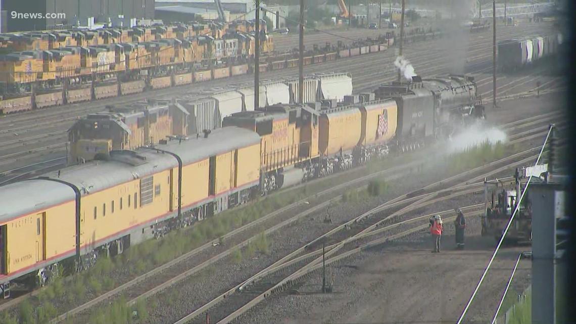 Big Boy 4014 steam locomotive leaves Colorado after US tour